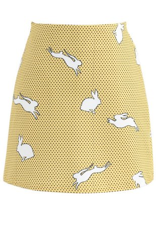 Running Bunny Skorts in Yellow