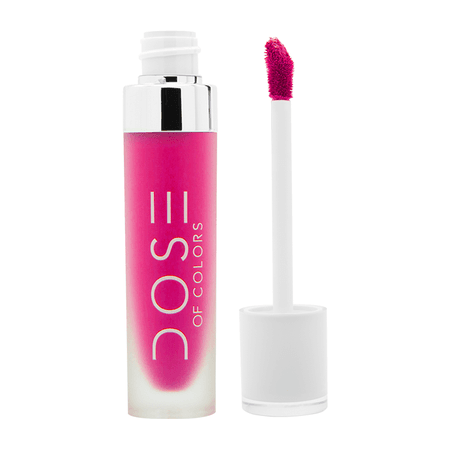 PINKY PROMISE- Bright Hot Pink Liquid Matte Lipstick - Dose of Colors