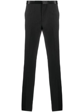 Versace Sequin Beaded Trim Tailored Trousers - Farfetch