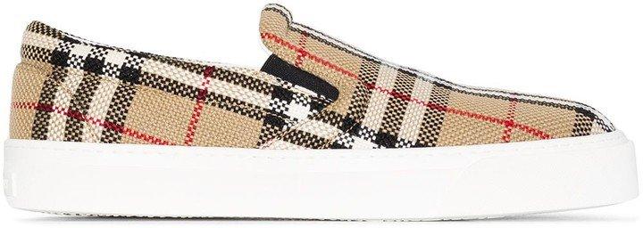 Vintage Check-print slip-on sneakers