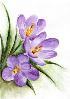 Pinterest - Download Watercolor - Spring Flowers Stock Illustration - Illustration of lilac, artistic: 26942315 | crafts for dementia