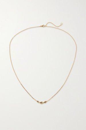 Gold 14-karat gold diamond necklace | Brooke Gregson | NET-A-PORTER