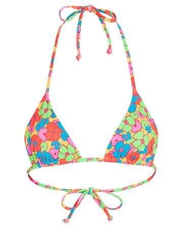 Frankies Bikinis Foxy Floral Bikini Top   INTERMIX®
