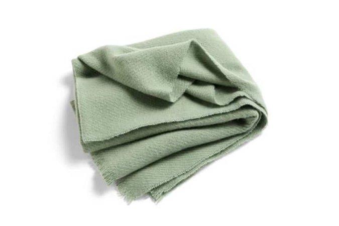Trouva: Mono Verdigris Green Blanket
