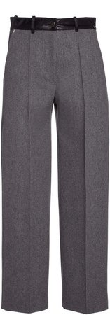 Peter Do Cropped Wool High-Rise Pants