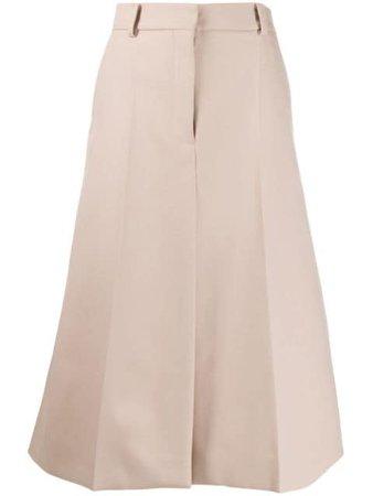 Stella Mccartney A-Line Midi Skirt 600666SOA36 Neutral | Farfetch