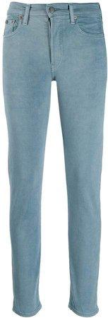 logo print skinny jeans