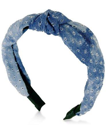 GUESS Denim Knotted Headband - Fashion Jewelry - Jewelry & Watches - Macy's