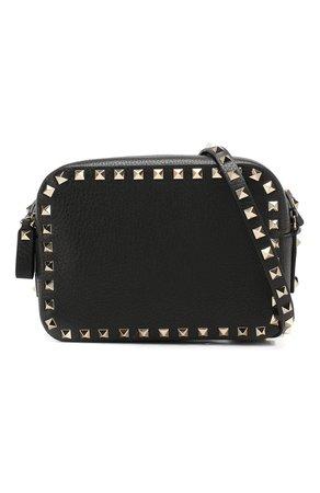 Женская сумка valentino garavani rockstud VALENTINO черная цвета — купить за 66200 руб. в интернет-магазине ЦУМ, арт. RW0B0809/VSF