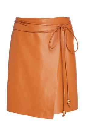 Sekoya Vegan Leather Mini Wrap Skirt by Nanushka | Moda Operandi