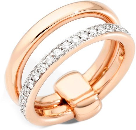 Iconica Diamond Double Band Ring