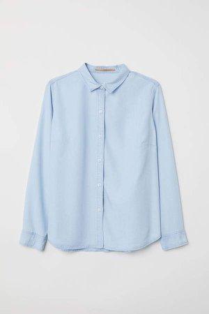 H&M+ Lyocell Denim Shirt - Blue