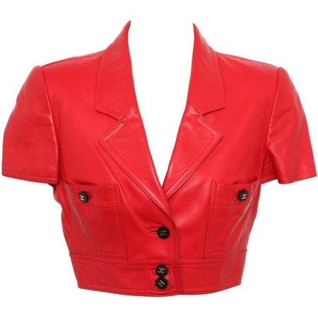 Chanel Rare Red  Cropped Jacket ($3,800)