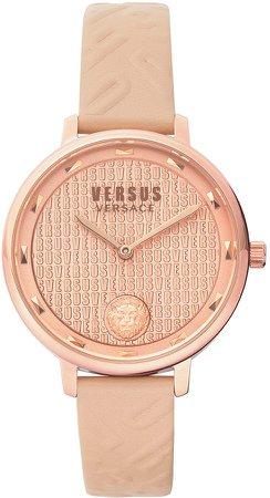 La Villette Leather Strap Watch, 36mm