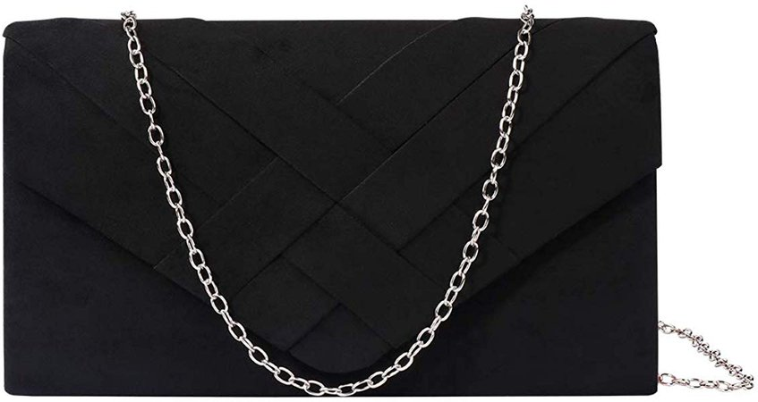 Evening Velvet Pleated Clutch Envelope