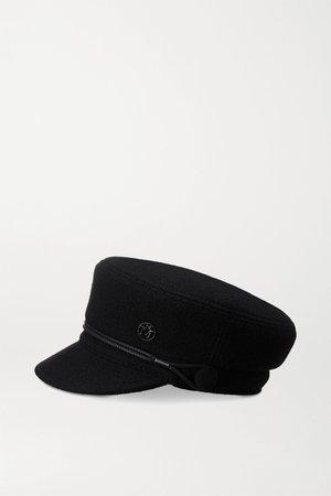 Black Abby embellished wool-felt cap | Maison Michel | NET-A-PORTER