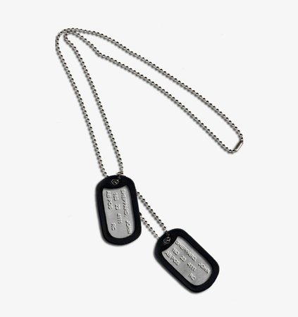military dog tags png - Google Search