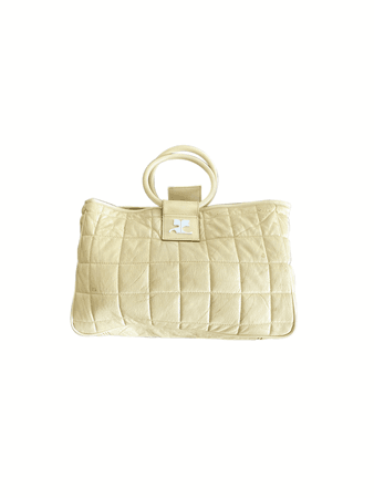 Courreges Yellow Leather Puff Bag — INTO ARCHIVE
