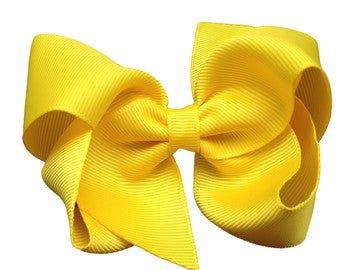 Yellow hair bow yellow bows hair bows bows for girls | Etsy