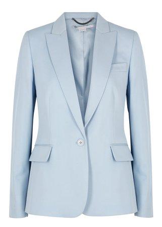 Stella McCartney Light blue wool blazer - Harvey Nichols