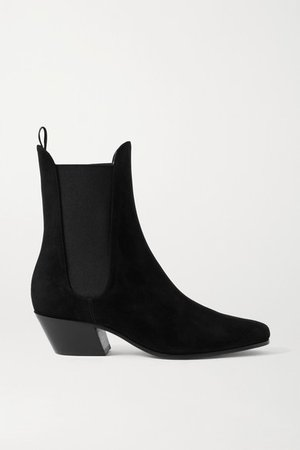 Saratoga Suede Ankle Boots - Black