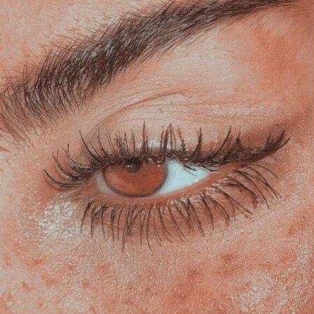 brown aesthetic eye