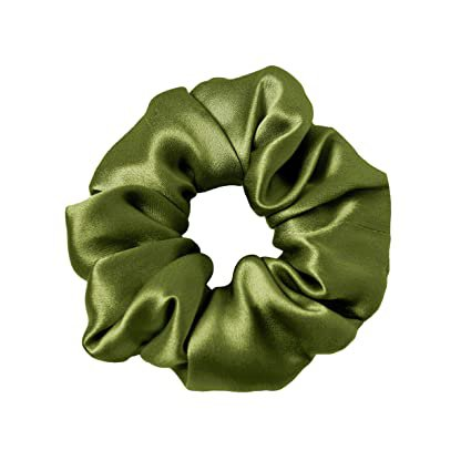 Amazon.com : LilySilk Green Silk Scrunchies -Regular -Scrunchies For Hair - Silk Scrunchies For Women Soft Hair Care (Dark Green) : Beauty