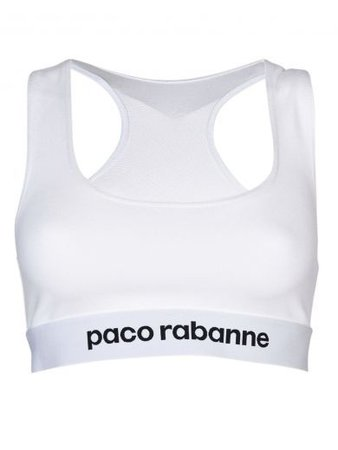 Paco Rabanne Logo Cropped Tank Top