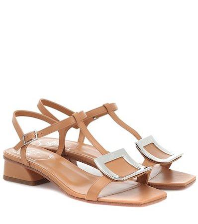 Roger Vivier - Bikiviv' leather sandals | Mytheresa