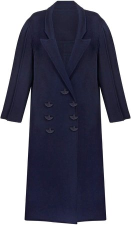 BEVZA Double-Breasted Wool Coat