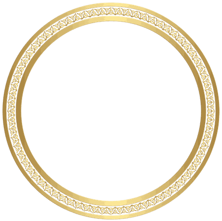Circle Frame (Gold) png