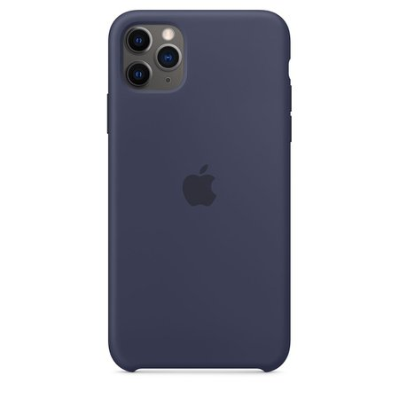 iPhone 11 Pro Max Silicone Case - Midnight Blue - Apple