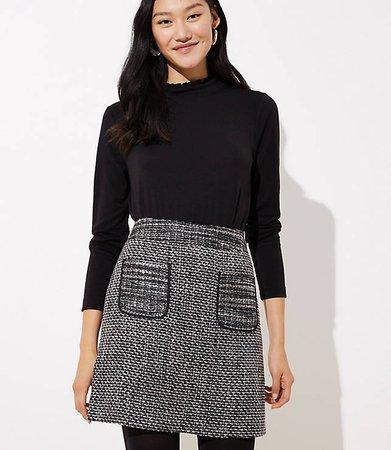 LOFT Tweed Pocket Skirt