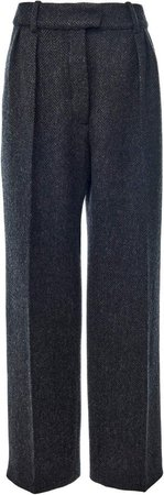 Valentino Straight-Leg Wool Pants