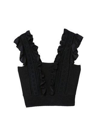 MANGO Openwork knit top