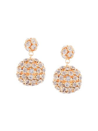 Jennifer Behr Crystal sphere-drop Earrings - Farfetch