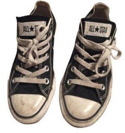 grunge black converse