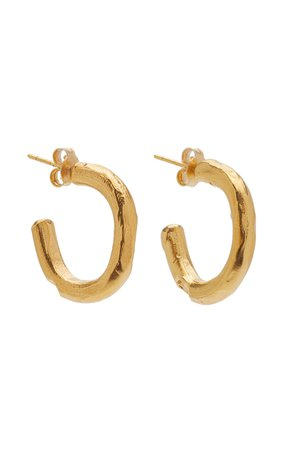 The Etruscan Reminder Gold-Plated Hoop Earrings by Alighieri | Moda Operandi