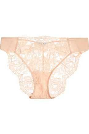 Lace Story leavers lace, tulle and satin briefs | LA PERLA | Sale up to 70% off | THE OUTNET