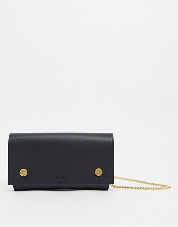 AllSaints albert leather wallet clutch bag | ASOS
