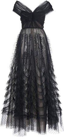 Giambattista Valli Ruffled Tulle Dress
