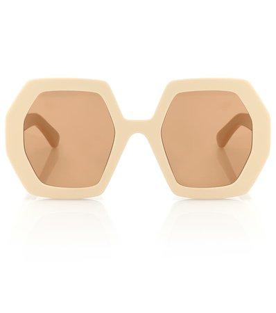 Hexagonal Sunglasses   Gucci - Mytheresa