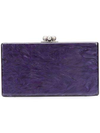 Edie Parker Box Clutch Bag JE0001 Purple | Farfetch