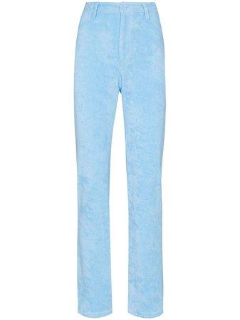 Maisie Wilen velour slim-fit trousers - FARFETCH