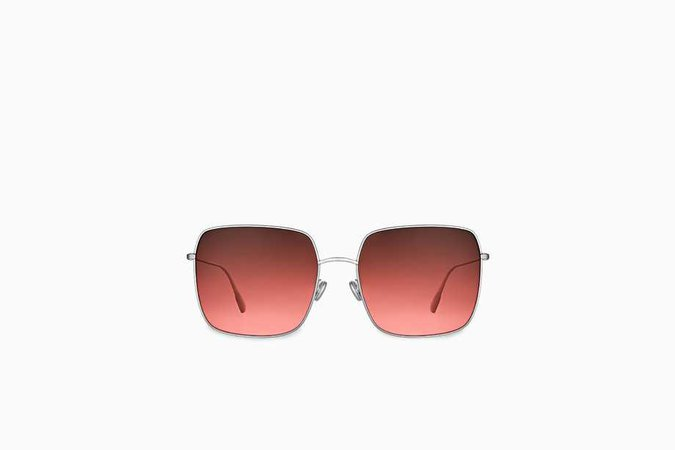 """DiorStellaire1"" sunglasses, silver-tone and coral - Dior"