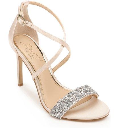 Jewel Badgley Mischka Nanna Embellished Sandal (Women)   Nordstrom