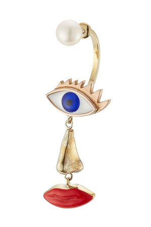 9kt Yellow Gold Earring with Pearl Gr. One Size