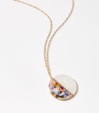 Resin Pendant Necklace | LOFT