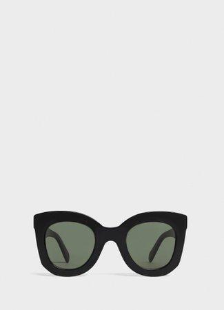Butterfly sunglasses in acetate - Black - Official website | CELINE