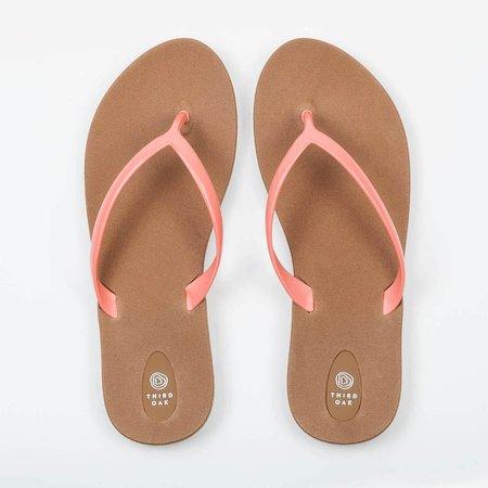 Coral flip flop